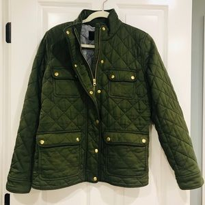 J. Crew Quilted downtown field jacket